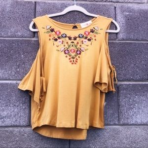 Wishful Park Mustard Yellow NWT, size medium